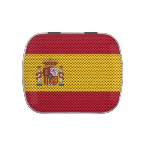 Bandera de España con efecto de la fibra de Jarrones De Caramelos