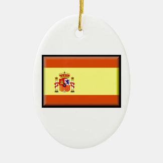 Bandera de España Adorno Ovalado De Cerámica