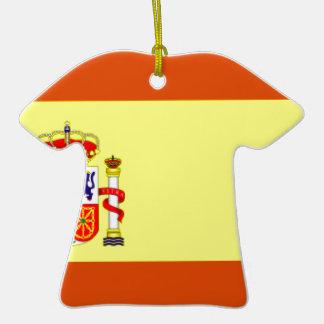 Bandera de España Adorno De Cerámica En Forma De Playera