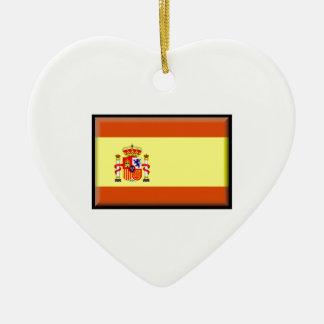Bandera de España Adorno De Cerámica En Forma De Corazón