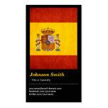 Bandera de España del Grunge del vintage - Bandera Tarjetas De Visita