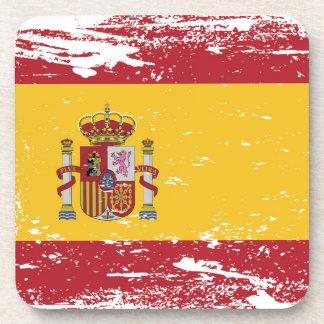 Bandera de España del Grunge Posavasos De Bebida