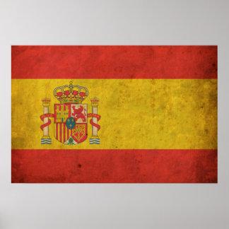 Bandera de España del vintage Impresiones