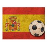 Bandera de España del vintage Tarjetas Postales