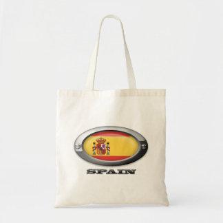 Bandera de España en el marco de acero Bolsa Tela Barata
