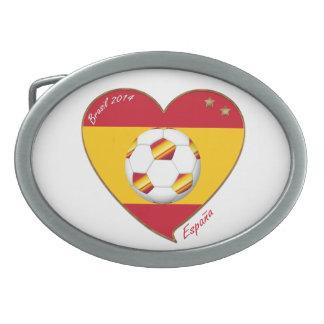 Bandera de ESPAÑA FÚTBOL campeones del mundo 2014 Hebilla Cinturón Oval