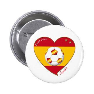 Bandera de ESPAÑA FÚTBOL campeones del mundo 2014 Pin