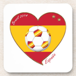 Bandera de ESPAÑA FÚTBOL campeones del mundo 2014 Posavasos