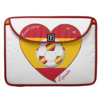 Bandera de ESPAÑA FÚTBOL campeones del mundo 2014 Funda Macbook Pro
