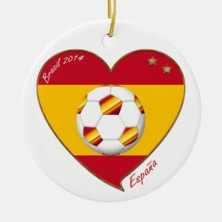 Bandera de ESPAÑA FÚTBOL campeones del mundo 2014 Ornamentos De Navidad