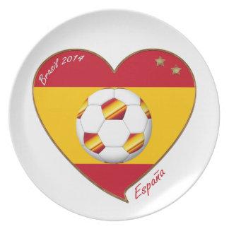 Bandera de ESPAÑA FÚTBOL campeones del mundo 2014 Platos