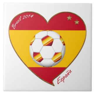 Bandera de ESPAÑA FÚTBOL campeones del mundo 2014 Teja Ceramica