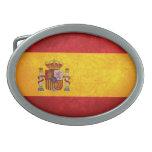 Bandera de España Hebilla Cinturon Oval