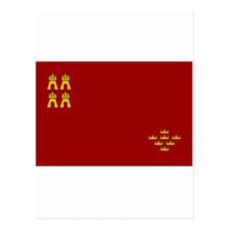 Bandera de España Murcia Postales