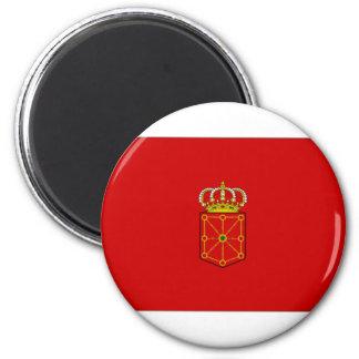 Bandera de España Navarra Imán Redondo 5 Cm