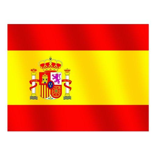 Bandera de España para la bandera española mundial Tarjeta Postal
