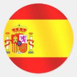 Bandera de España para los españoles por todo el Etiquetas Redondas