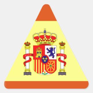 Bandera de España Pegatina Triangular