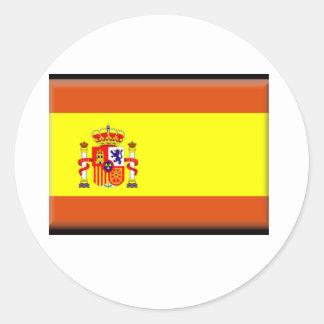 Bandera de España Pegatina Redonda