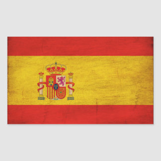 Bandera de España Pegatina Rectangular