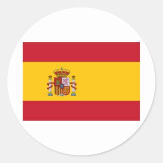 Bandera de España Etiquetas Redondas
