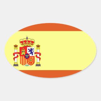 Bandera de España Pegatina Ovalada