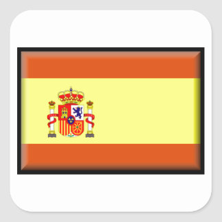 Bandera de España Pegatina Cuadrada