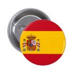 Bandera de España Pin Redondo De 2 Pulgadas