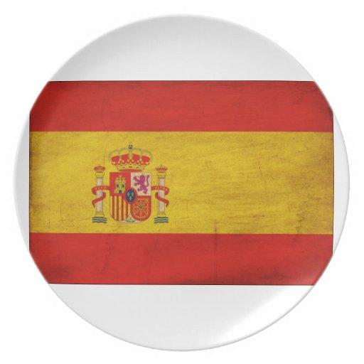 Bandera de España Platos De Comidas