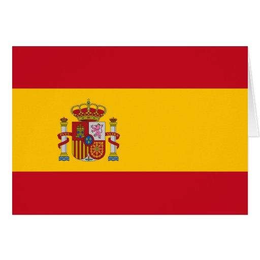 Bandera de España Tarjeta Pequeña
