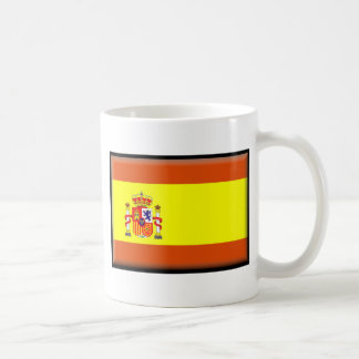 Bandera de España Taza Básica Blanca