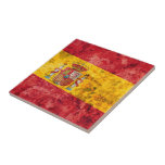 Bandera de España Teja Ceramica