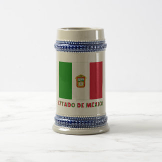 Bandera de Estado de México Unofficial Jarra De Cerveza