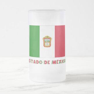 Bandera de Estado de México Unofficial Taza Cristal Mate