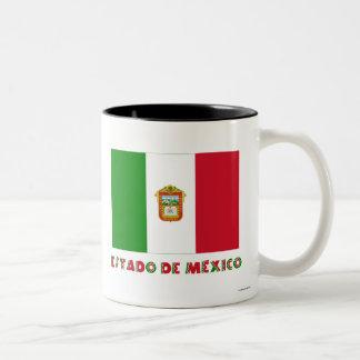 Bandera de Estado de México Unofficial Taza Dos Tonos