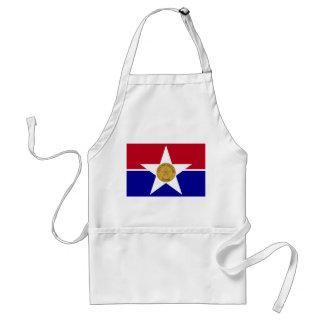 bandera de Estados Unidos América Tejas de la ciud Delantal