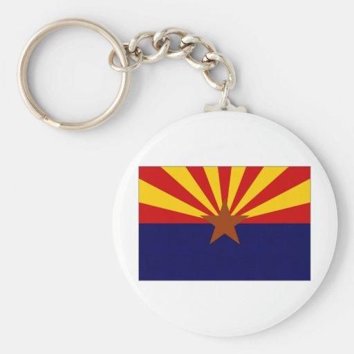 Bandera de Estados Unidos Arizona Llavero Redondo Tipo Pin