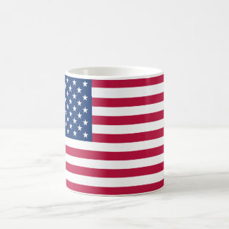 Bandera de Estados Unidos de la taza de café ameri