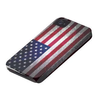 Bandera de Estados Unidos Case-Mate iPhone 4 Funda