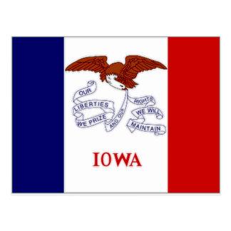 Bandera de Estados Unidos Iowa Postales