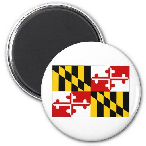 Bandera de Estados Unidos Maryland Imán Redondo 5 Cm