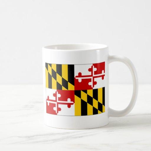 Bandera de Estados Unidos Maryland Tazas De Café