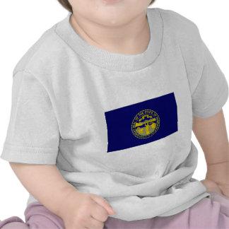 Bandera de Estados Unidos Nebraska Camisetas