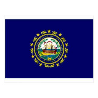 Bandera de Estados Unidos New Hampshire Tarjetas Postales
