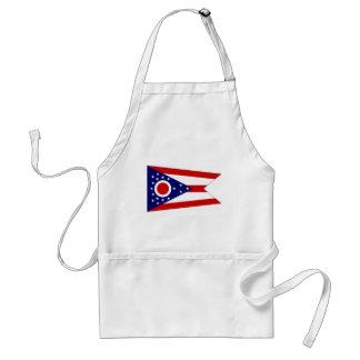 Bandera de Estados Unidos Ohio Delantales