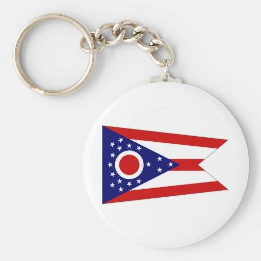 Bandera de Estados Unidos Ohio Llavero Redondo Tipo Pin