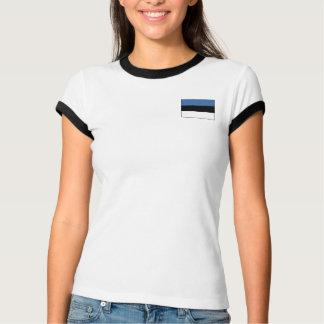 Bandera de Estonia + Camiseta del mapa Playeras