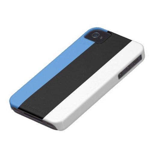 Bandera de Estonia Case-Mate iPhone 4 Carcasas