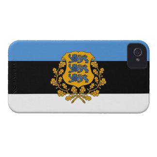 Bandera de Estonia iPhone 4 Case-Mate Carcasa