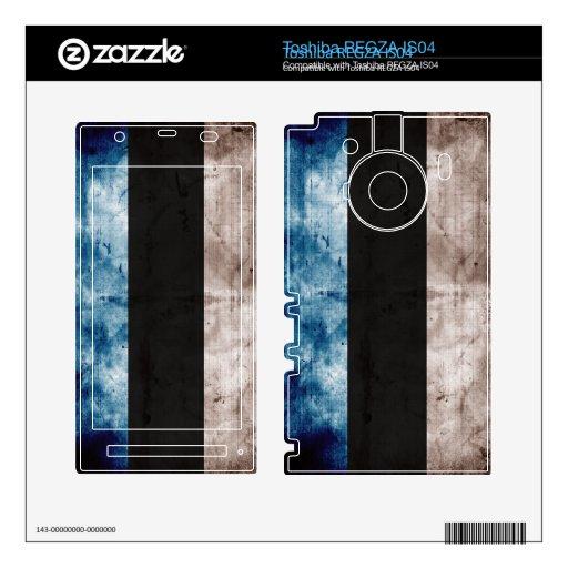 Bandera de Estonia; Serie del Grunge Toshiba REGZA Skins